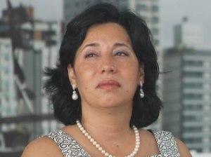 DivulgaçãoMaria Antonieta de Brito, reeleita prefeita do Guarujá, no dia da posse