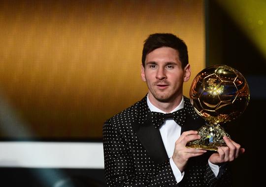 Messi ultrapassou o brasileiro Ronaldo e o francês Zinédine Zidane, que conquistaram três edições