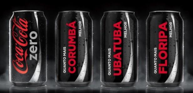 Latas de Coca-Cola zero trazem o nome de 100 destinos turísticos (Foto: Divulgação/Coca-Cola)
