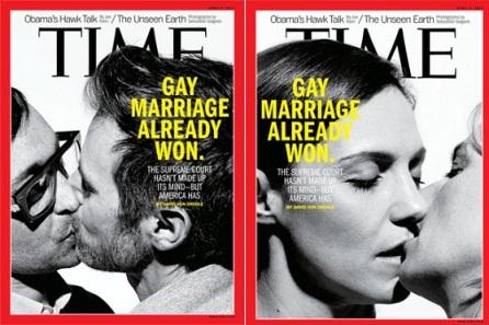 """""""A Suprema Corte ainda não se decidiu - mas a América sim"""", declarou a edição, também na capa"""