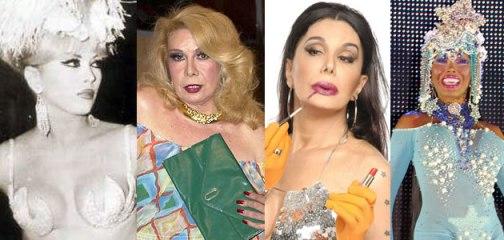 Coccinelle, Rogeria, Claudia e Marcinha