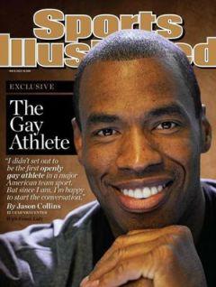 """Collins, """"o atleta gay"""", segundo a SI"""