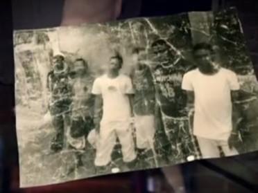 Imagem da foto encontrada na casa de bola, em Vespasiano (MG) (Foto: Reprodução/TV Globo)