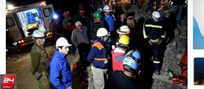 Os mineiros foram levados a um hospital, todos em boas condições de saúde Reprodução/24horas.cl