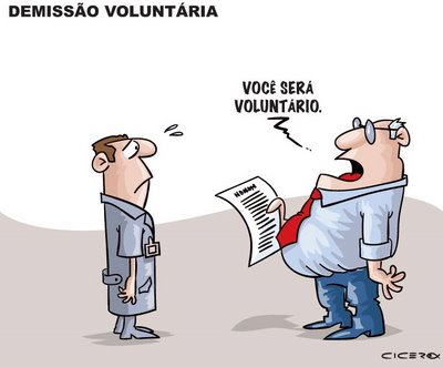 Resultado de imagem para BRADESCO ANUNCIA PLANO DE DEMISSÃO VOLUNTÁRIA: charges