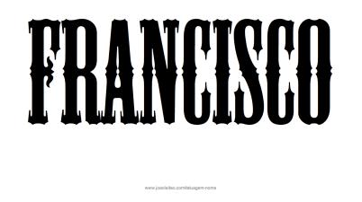 francisco-nome-masculino-desenho-tatuagem-9